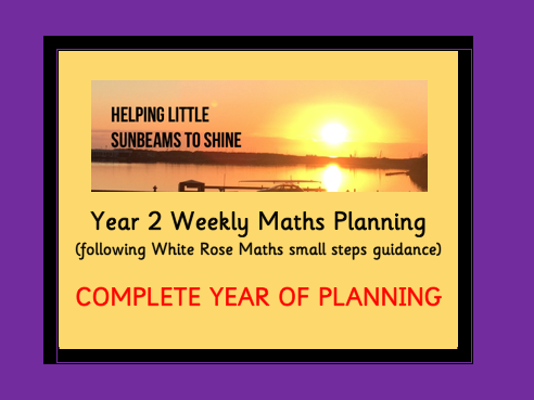 Y2 Maths Weekly Planning: COMPLETE YEAR (follows WRM small steps guidance)