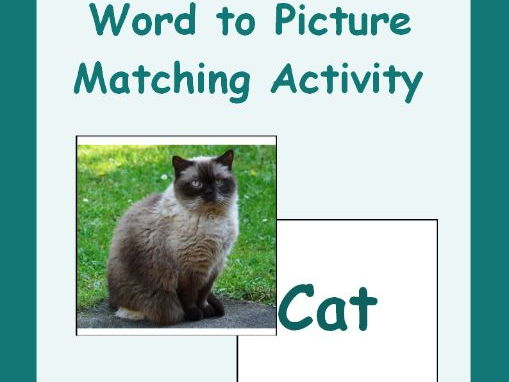 Farm Animals Word to Picture Matching Activity