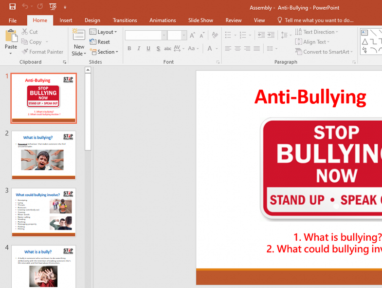 Bullying Assembly - Primary