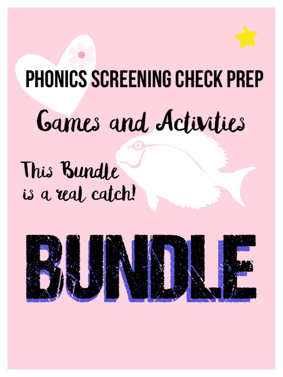 Phonics Screening Prep Games and Activity Bundle