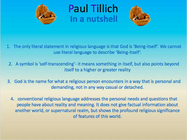 Religious Language as symbolic