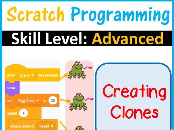 Scratch Programming Creating Clones | Skill Level Advanced