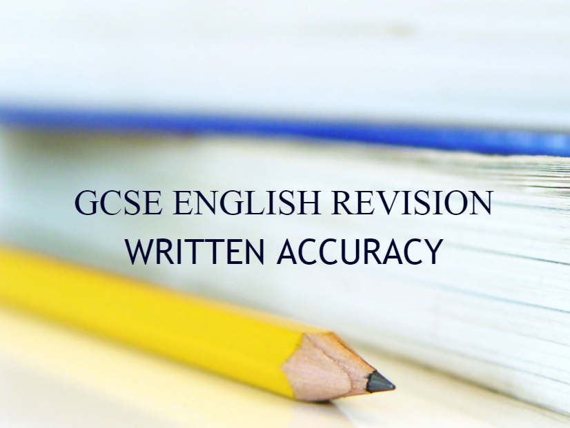 GCSE Revision - Any Spec - Writing