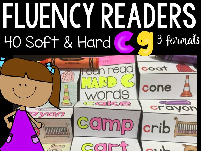PHONICS: FLUENCY READERS: HARD AND SOFT C AND G