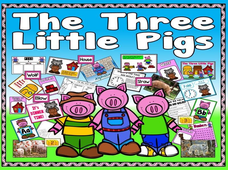 STORY BUNDLE 3 LITTLE PIGS 3 BILLY GOATS GRUFF GOLDILOCKS AND