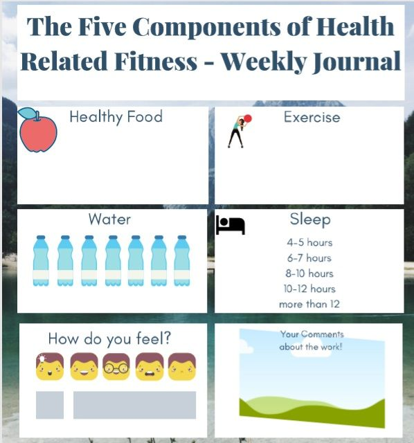 The Components of Health Related Fitness