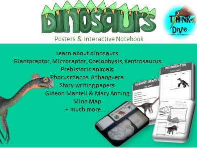 Project Based Learning: Dinosaurs - Posters & Interactive Notebook, KS1, NGSS