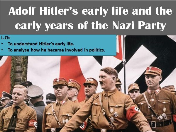 KS3 - Adolf Hitler's early life & early years of the Nazi Party - PPT (activities included)