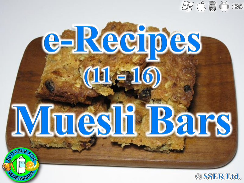 44.   Muesli Bars (e-Recipe)
