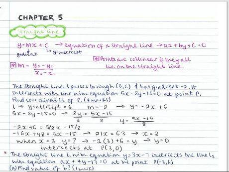 AS Pure Maths notes- Chapter 6 (Circles)