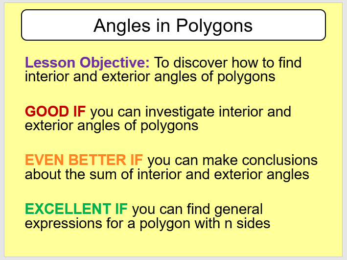 Investigating Angles in Polygons