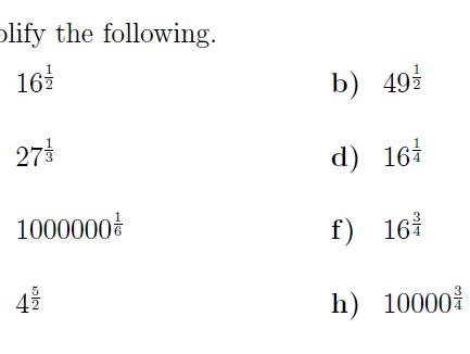 Rational exponents worksheet no 2 (with solutions)
