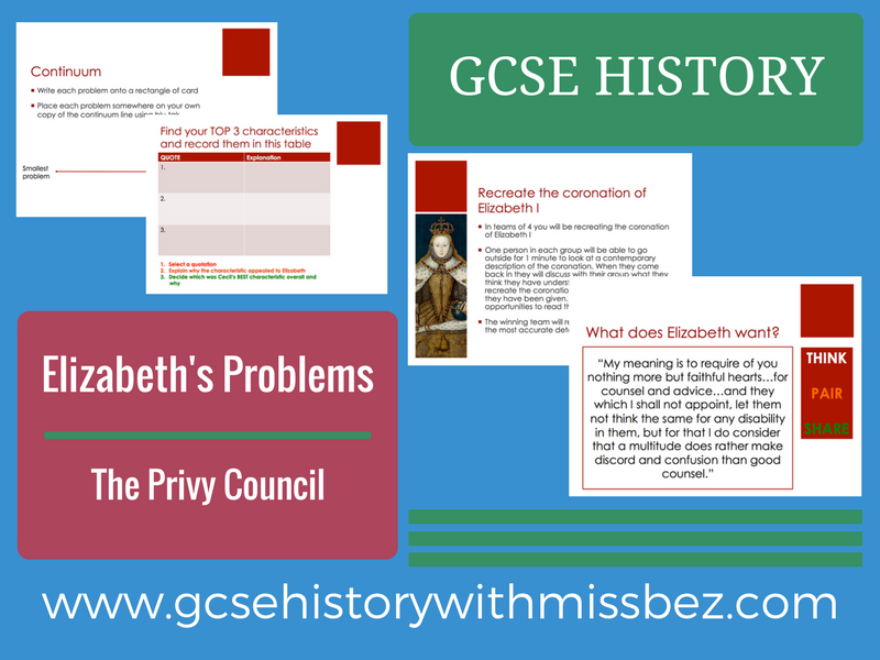 GCSE HISTORY: ELIZABETH I: Problems: Privy Council (all exam boards)