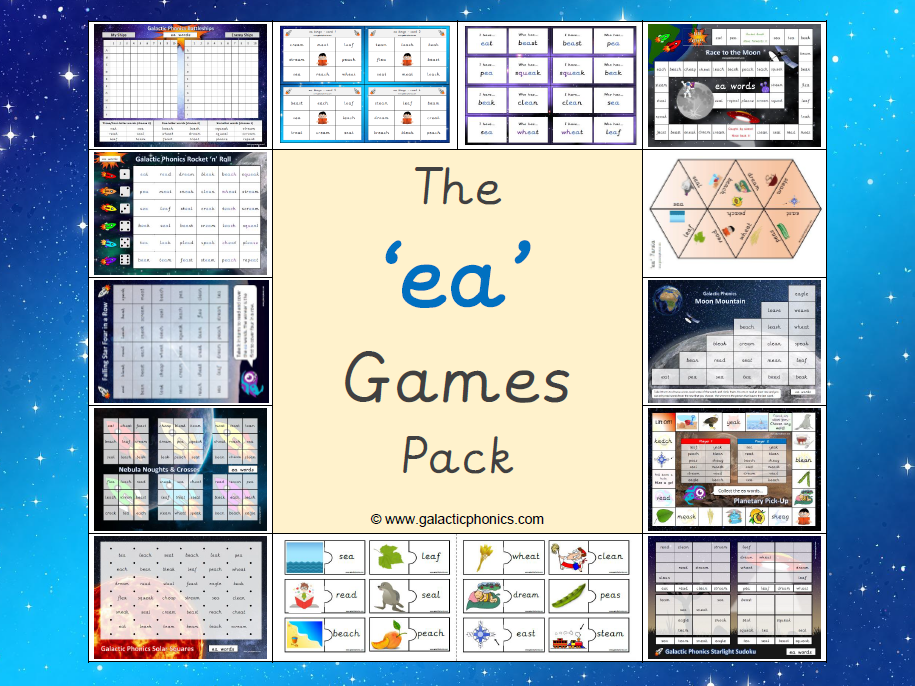 The 'ea' Phonics Games Pack