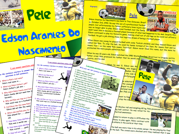 Pele Biography Comprehension Lesson