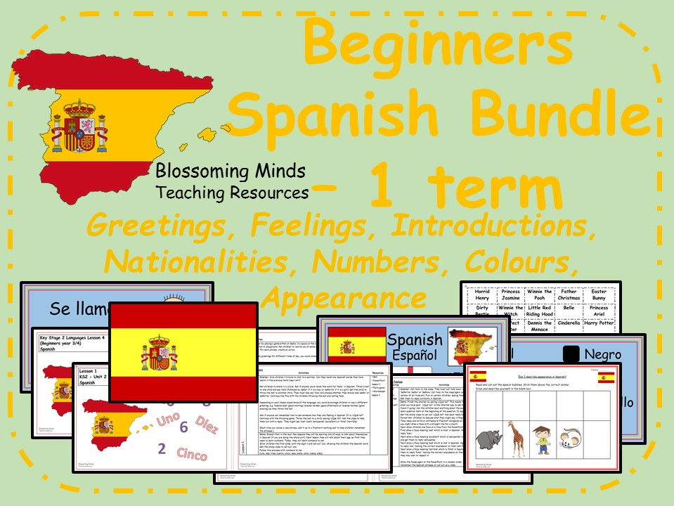 Spanish Lesson Bundle (1 term) Beginners