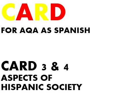 SPEAKING CARDS 3 & 4 for AQA AS SPANISH (new specification)