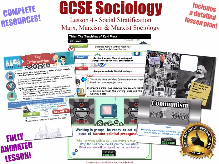 Marx, Marxism, & Marxist Sociology- Social Stratification -L4/20 [ WJEC EDUQAS GCSE Sociology ] NEW