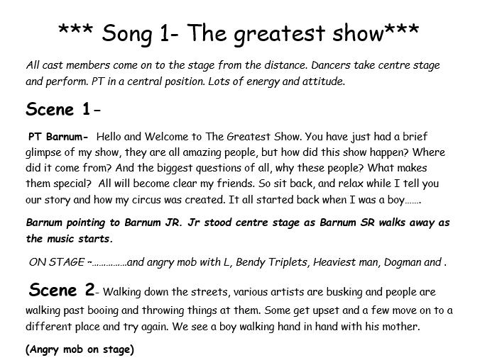 Greatest Showman Script: Narration and Ideas