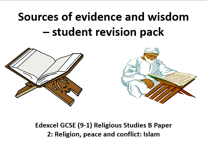 Edexcel GCSE (9-1) Religious Studies B Islam sources of wisdom and authority revision pack paper 2