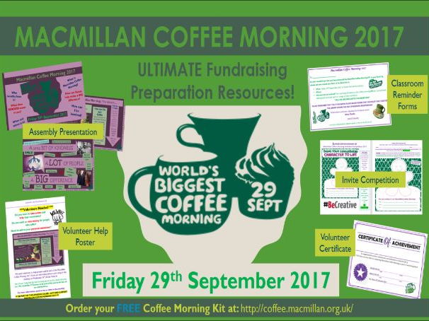 ULTIMATE Macmillan Coffee Morning Fundraising Preperation Kit!