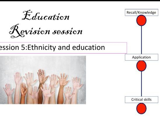 Ethnicity and education revision AS A Level Sociology