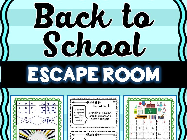 Back to School Escape Room - Classroom Rules Activity