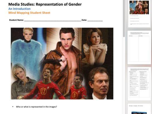 Gender Representation - An Introduction Worksheet [6 Page] PDF A4
