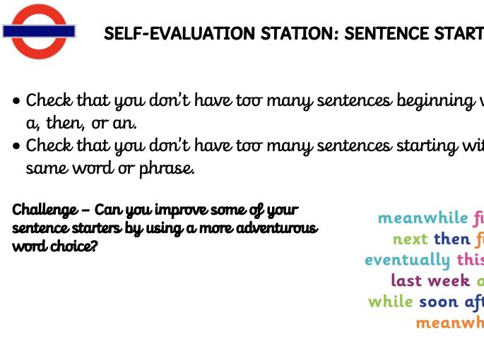 Lower KS2 Self Evaluation Station Cards