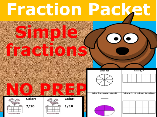 Fractions KS1: No Prep