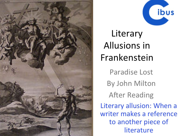 Frankenstein- GCSE and A Level Focus- Paradise Lost