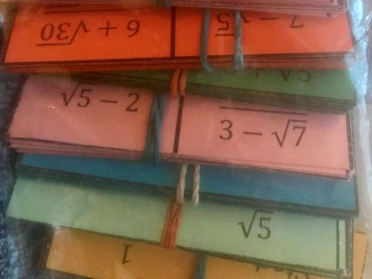 Rationalising the Denominator Dominoes Puzzle