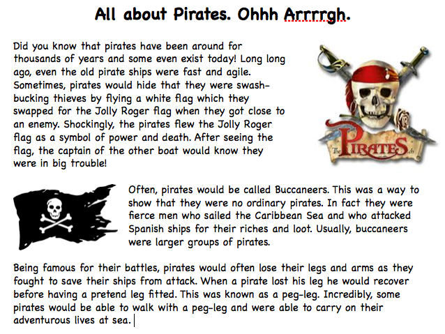 Pirates Information Text
