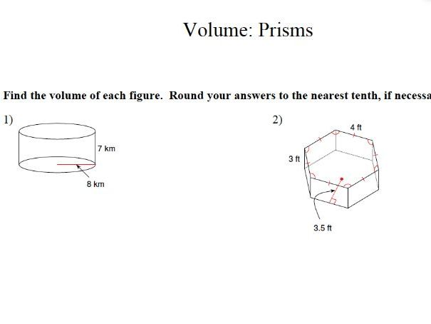 GCSE Maths: Volume of Prisms