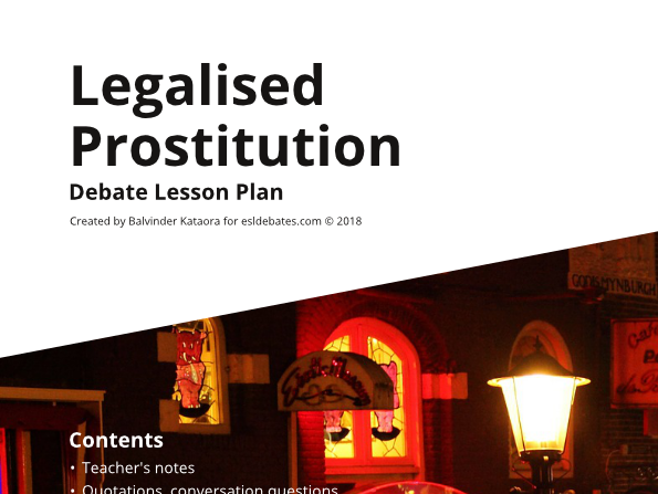 Legalised Prostitution - Complete Debate Pack