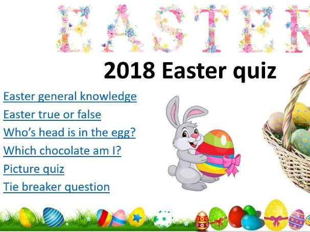2018 Easter quiz (non religious)