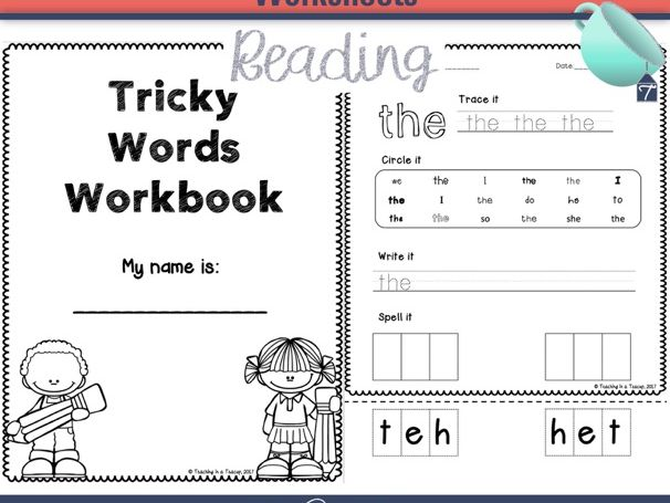 Tricky Words Worksheets Phonics Teaching Resources