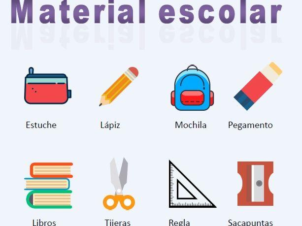 Poster - Spanish vocab - Material escolar (School supplies)