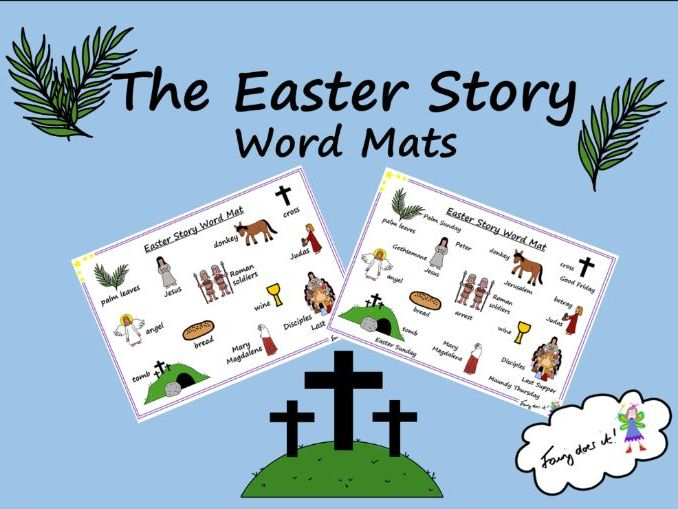 The Easter Story Word Mats