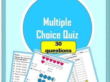 Multiple Choice Quiz on Numbers (Yr 4)
