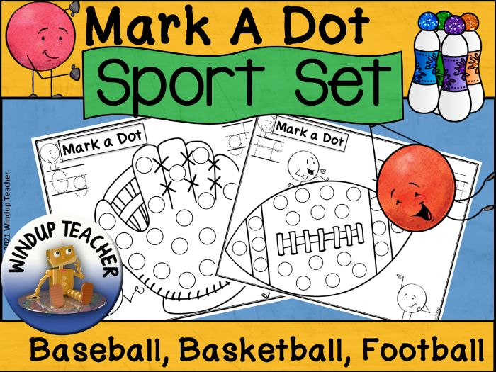Sports Dot Dauber Set