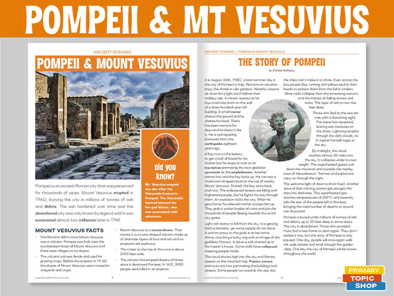 Ancient Romans - Pompeii and Mount Vesuvius