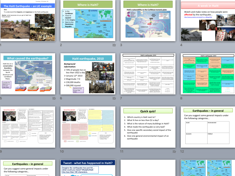 Earthquake in Haiti 2010 - case study of impacts & responses (AQA The Challenge of Natural Hazards)