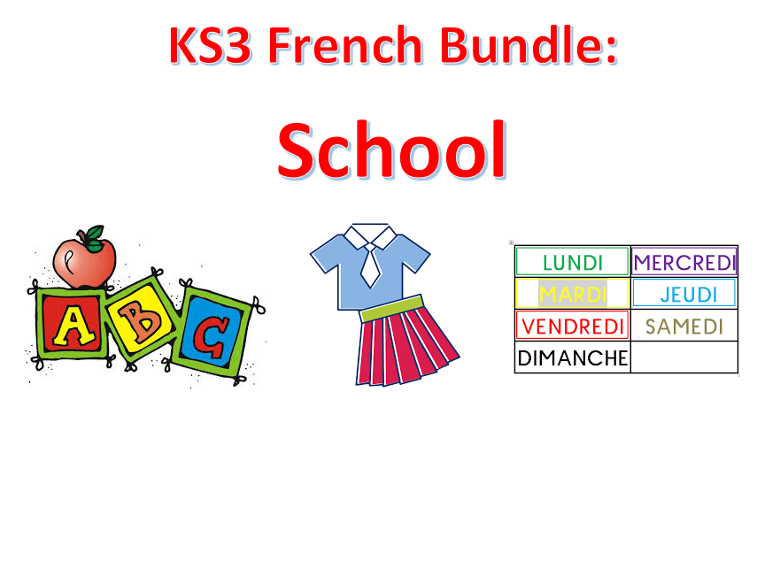 KS3 French: School life resources