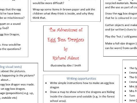 Early Years ideas for using The Adventures of Egg Box Dragon