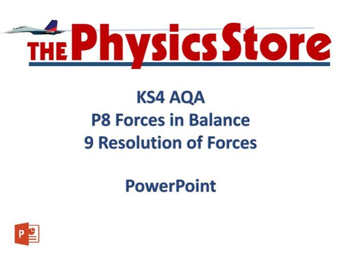 KS4 GCSE Physics AQA P8 9 Resolution of Forces