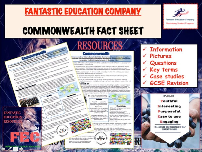 Commonwealth Teaching Handout Revision Map.