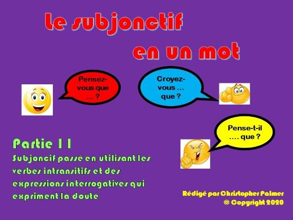 French: The subjunctive in a nutshell - Part 11: The past subjunctive with 'etre' verbs