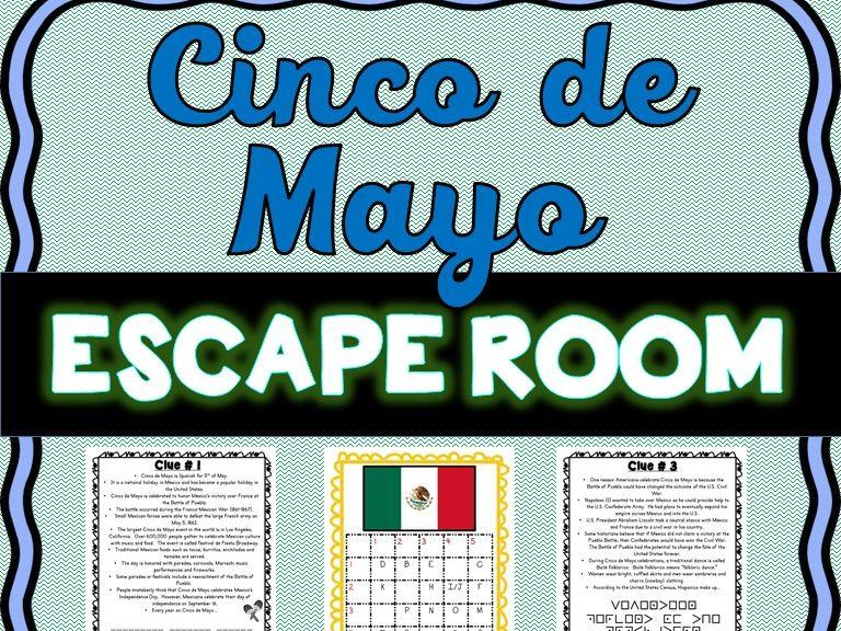 Cinco de Mayo ESCAPE ROOM - Fun Facts, May 5th, Mexico, Battle of Puebla