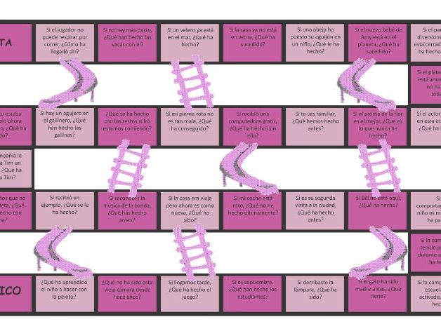 Present Perfect Tense Spanish Chutes and Ladders Board Game